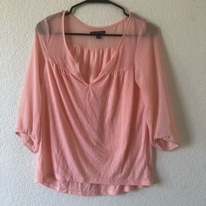 American Eagle Outfitters Pink Sheer Blouse XS